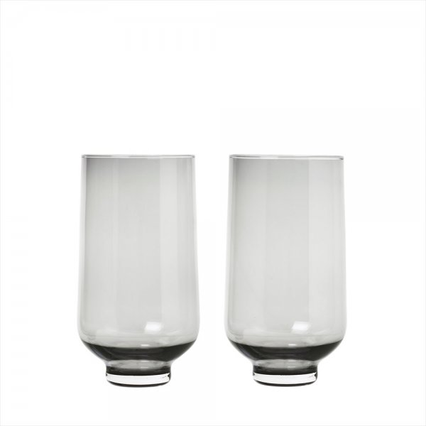 Blomus FLOW Set 2 höga tumblerglas Smoke